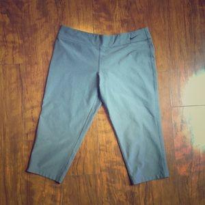 Nike- Dri Fit Gray Capri Leggings. Size XL